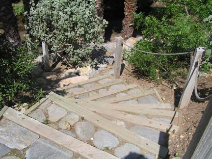 Escondido stairs on steep slope